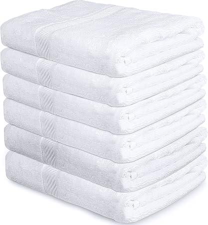 Utopia Towels - Toallas de baño Cotton Pool Gym (paquete de 6, 56 x