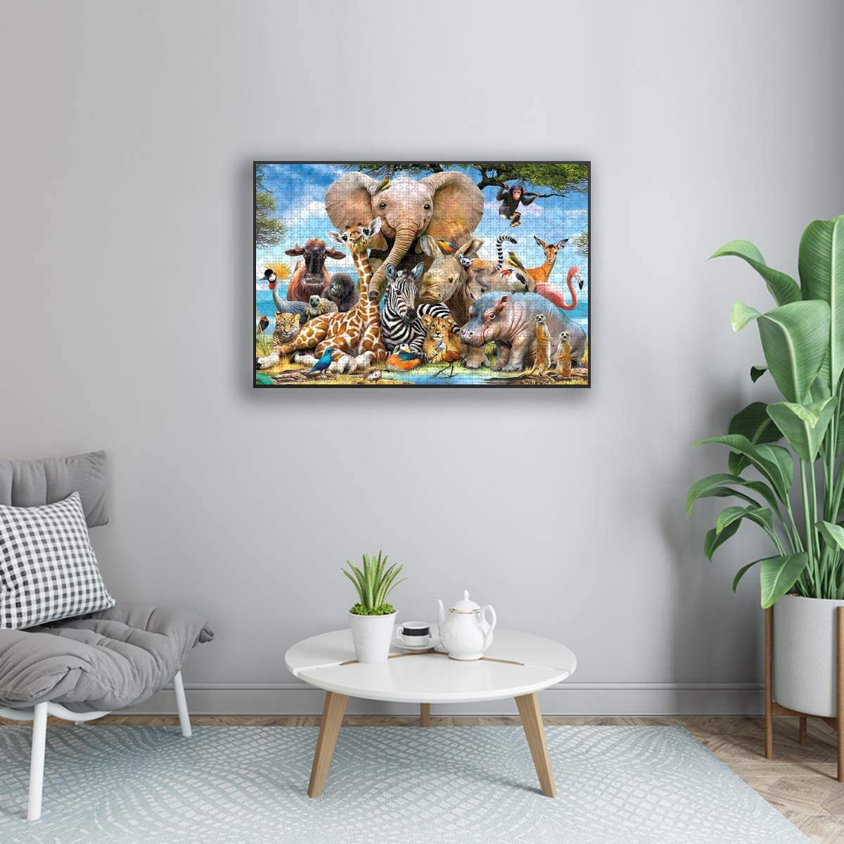 Jigsaw Puzzle 1000 Piece for Adults /& Kids African Animal World Jungle Beasts Puzzles Intellectual Decompressing Fun Family Game Large Puzzle Game Toys Gift