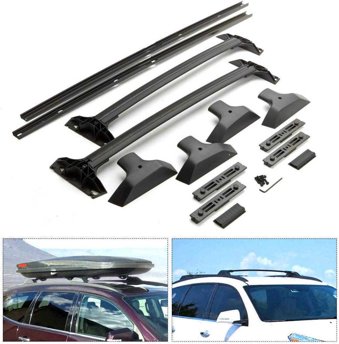 INEEDUP Cross Bars Roof Rack Fit For 2010-2017 Chevy Cruze,2006-2011 2014-2017 Chevy Impala,2006-2010 2013-2017 Chevy Malibu OE Style Bolt-On Roof Rack Rail Cross Bar Luggage Cargo Carrier,2-Pack