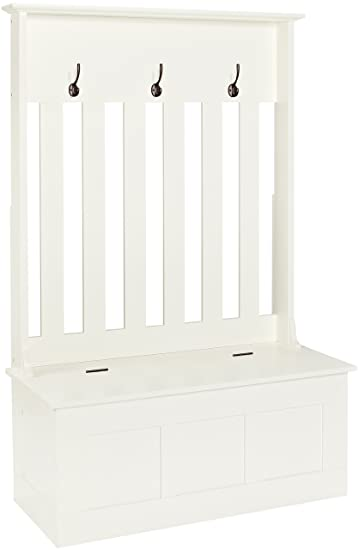 Terrific Crosley Furniture Ogden Entryway Hall Tree With Storage Bench White Andrewgaddart Wooden Chair Designs For Living Room Andrewgaddartcom