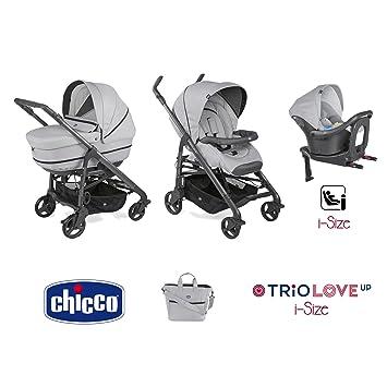 Trio Love up i-size cochecito + portabebés + siège-auto Pearl - Chicco: Amazon.es: Bebé