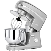 Litchi 5.5 Quart Tilt-Head Stand Mixers, 650 Watts Kitchen Electric Mixer with Flat Beater, Whisk, Dough Hook, Mixing Blade, Splash Guard, Stainless Steel Bowl