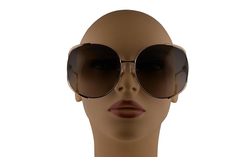 Amazon.com: Gucci gg0225s anteojos de sol Oro W/café ...