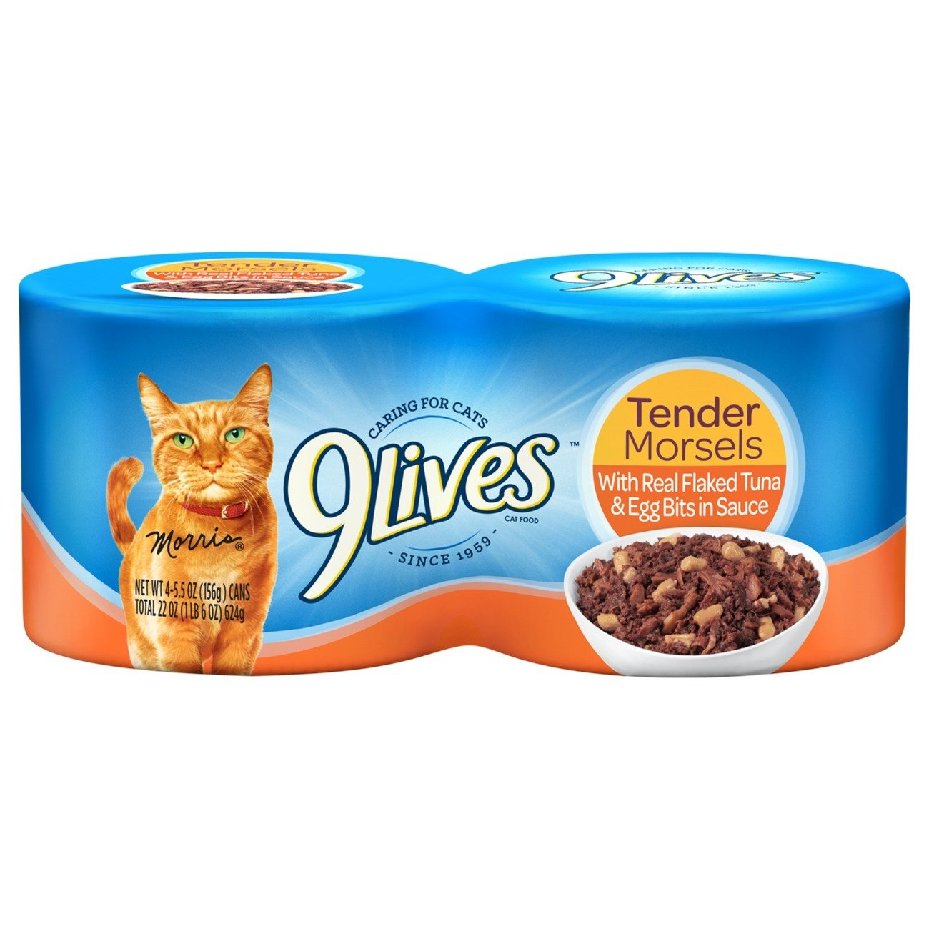 9Lives Tender Morsels With Real Ocean Whitefish & Tuna In Sauce Wet Cat Food