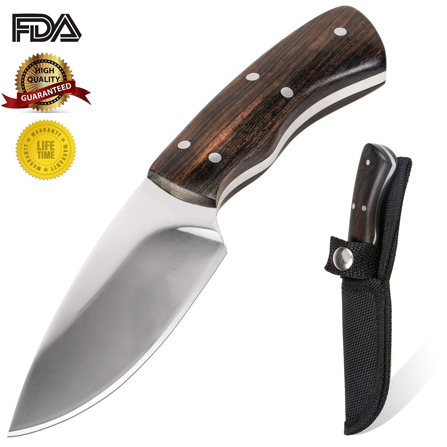 KTFNOMES Pocket Knives, 5.52 inches Mini Stainless Steel Outdoor Knife Sharp with Chef Knife/Knives & Tools/Best Choice for Survival, Camping, Craft, Gardenin by KTFNOMES (Image #2)
