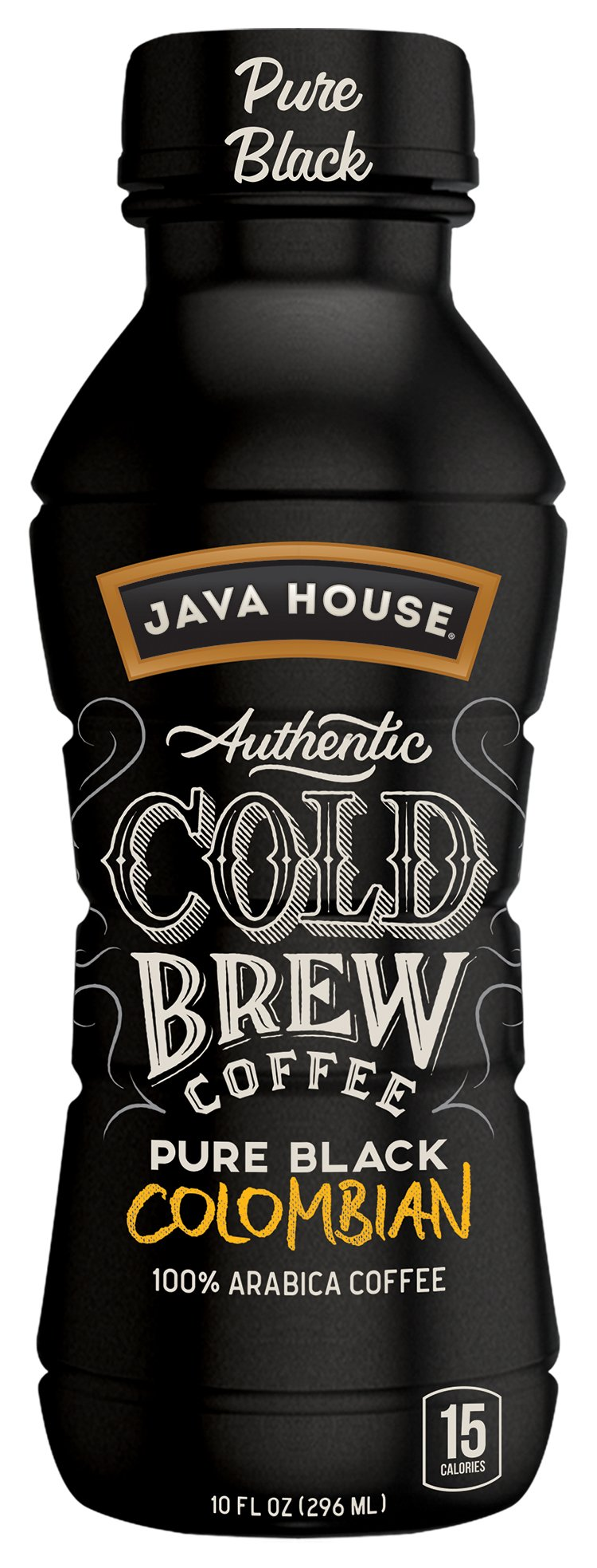 JAVA HOUSE Authentic Cold Brew Coffee, Columbian Black, 10 Ounce (Pack of 12) Ready to Drink by Java House