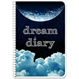 """BookFactory Dream Diary/Dream Journal/Log Book- 120 Pages - 6"""" x 9"""", Durable Thick Translucent Cover, Wire-O Binding (LOG-126"""