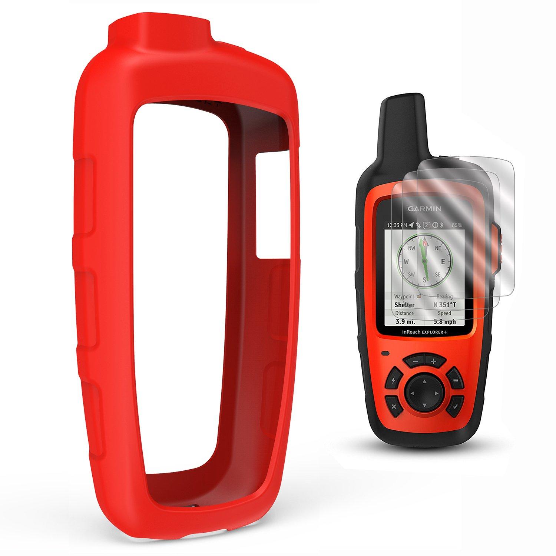 TUSITA Case with Screen Protector for Garmin inReach SE+ Plus/Explorer+ Plus Satellite Tracker,Replacement Silicone Protective Skin Cover