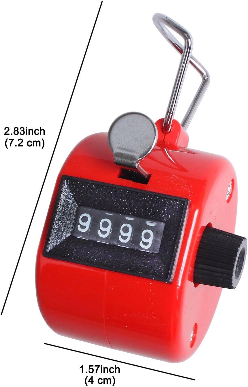 Am /_ conteo de 4 dígitos número de mano manual contador mecánicos de conteo haga clic Clicker
