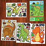 Dinosaur Stickers,Make Your Own Dinosaur Stickers,Make A Dinosaur Stickers DIY Stickers Dinosaur Party Sticker Craft Game,Din