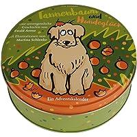 Adventskalender Tannenbaum und Hundeglück - Adventskalender mit Hundegeschichte - 24 Karten in Blechdose zum Aufhängen