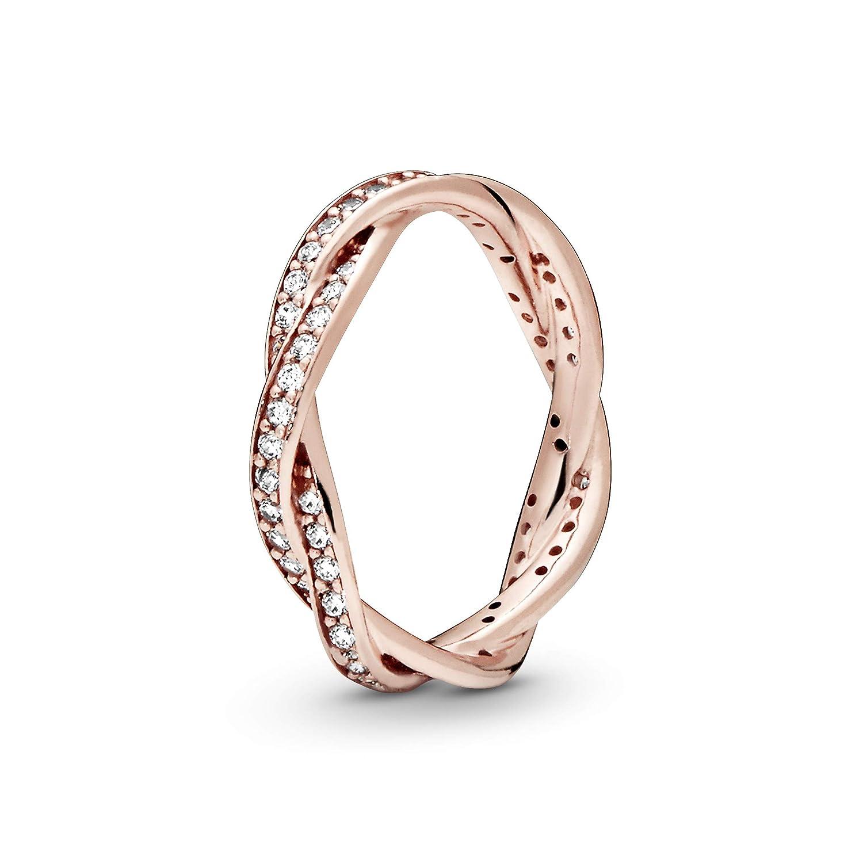 PANDORA Twist of Fate Rose Gold Ring