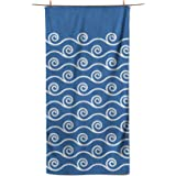 Easthills Outdoors Microfiber Beach Towel - Fast Drying Towel for Camping, Travel and Swimming - Lightweight, Quick Dry and A