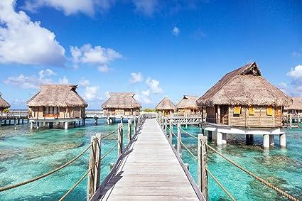 Amazon Com Bora Bora Overwater Bungalows In The Lagoon