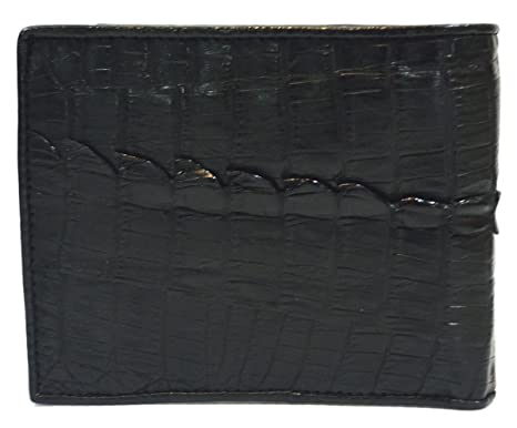a82e45f2d394 Authentic M Crocodile Skin Men's Bifold Crocodile Tail Skin Leather Wallet