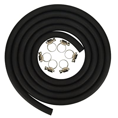 Cococart 5/16 Inch ID x 6.5 Feet/2m Length NBR/PVC SAE30R6 Polyester Reinforced Fuel Line Tubing Hose: Home Improvement [5Bkhe1502638]