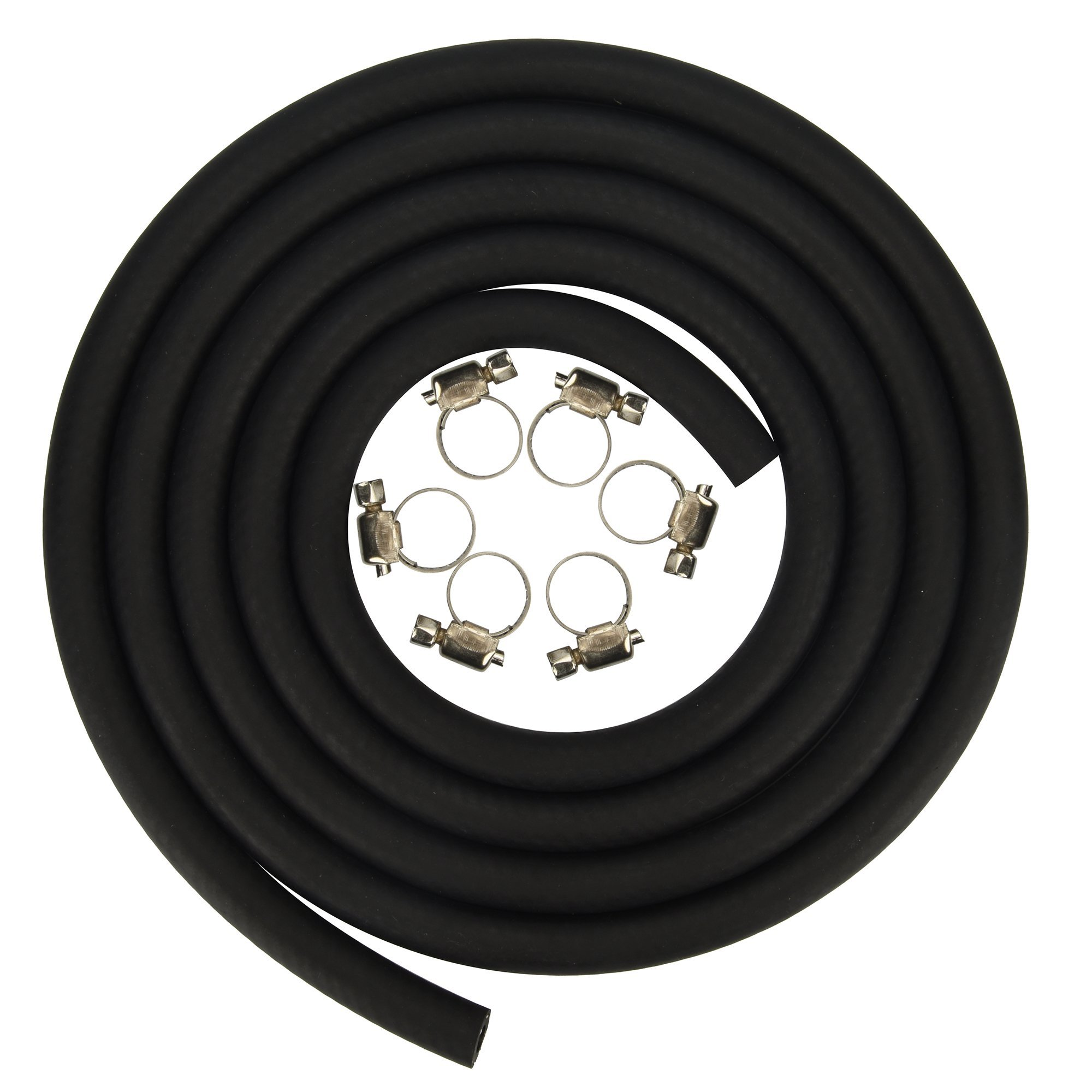 Cococart 5/16 inch ID x 6.5 Feet/2m Length NBR/PVC SAE30R6 Polyester Reinforced Fuel Line Tubing Hose