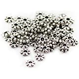 200 pcs Tibetan Silver Daisy Spacer Metal Beads 4mm by Beading Station