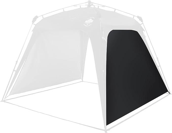 Imagen deLumaland Paneles Laterales de Tienda de campaña Gazebo Cenador Pop Up SPF 50+ Camping Acampada Festival Negro
