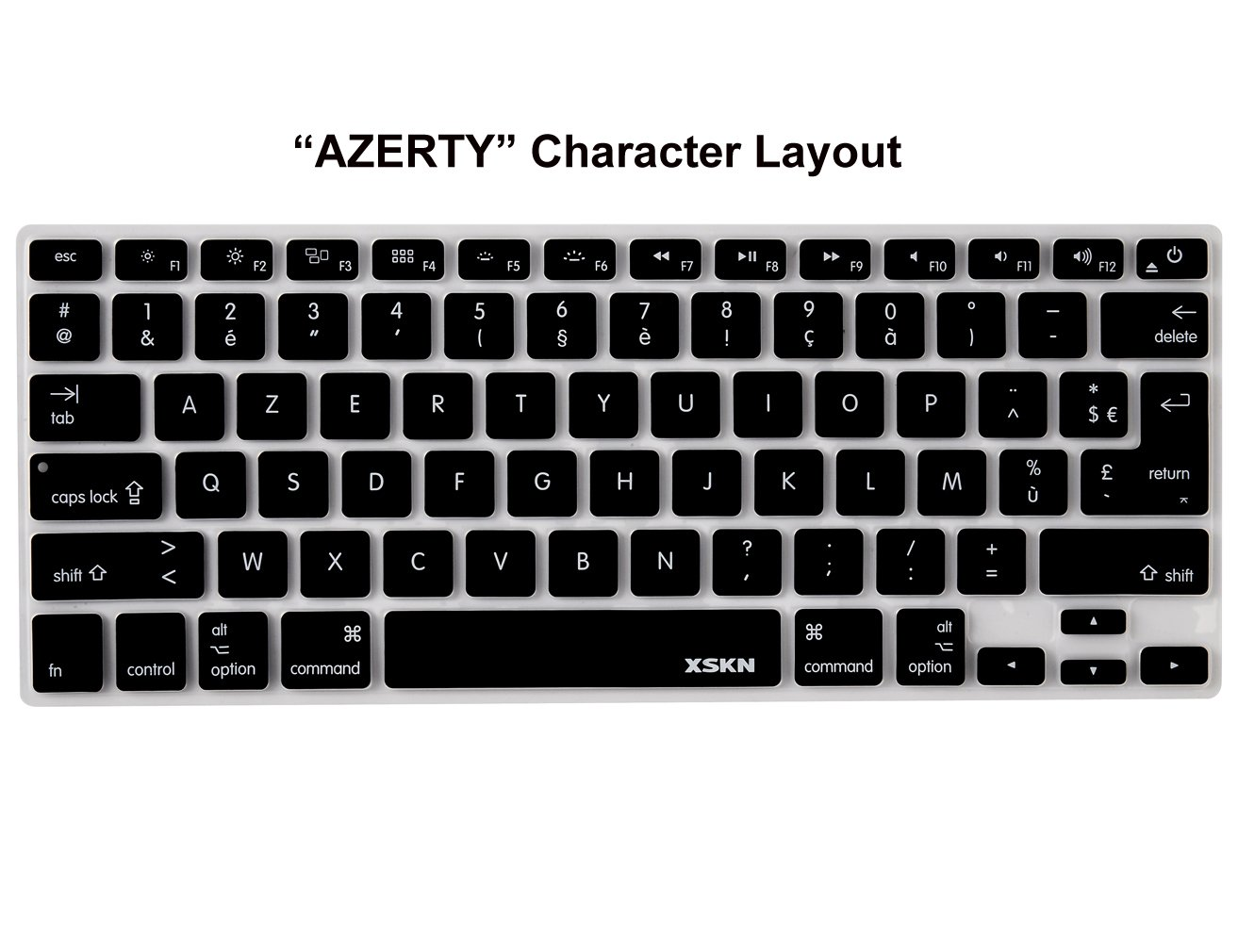 Amazon french language keyboard cover silicone skin for amazon french language keyboard cover silicone skin for macbook pro 13 15 17 inch computers accessories biocorpaavc Images