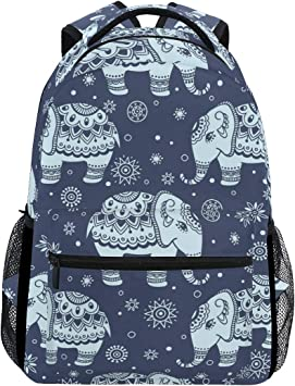 Personalised BookBag with Strap Elephant Book Bag School Bag Elephant Bookbag