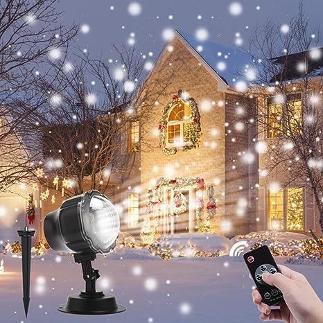 Proyector Navidad LED, Luces de Proyección con Control Remoto ...
