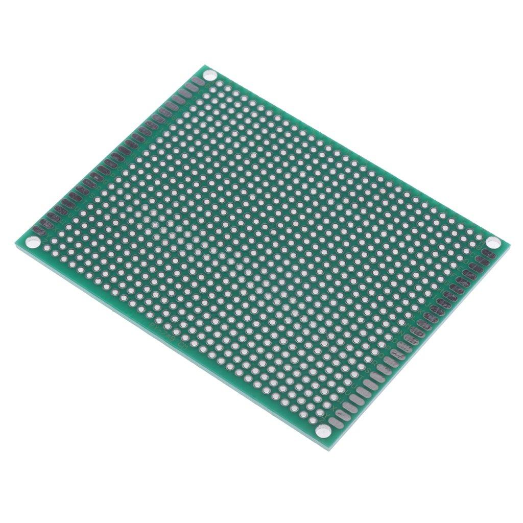 perfk 10pcs Placa Prototipo PCB de 2 lados Prototipo DIY para Soldar PC board 4 tama/ños seleccionados Azul-4x6 cm