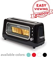 Dash Clear View Toaster: Extra Wide Slot Toaster with Stainless Steel Accents + See Through Window - Defrost, Reheat + Auto S
