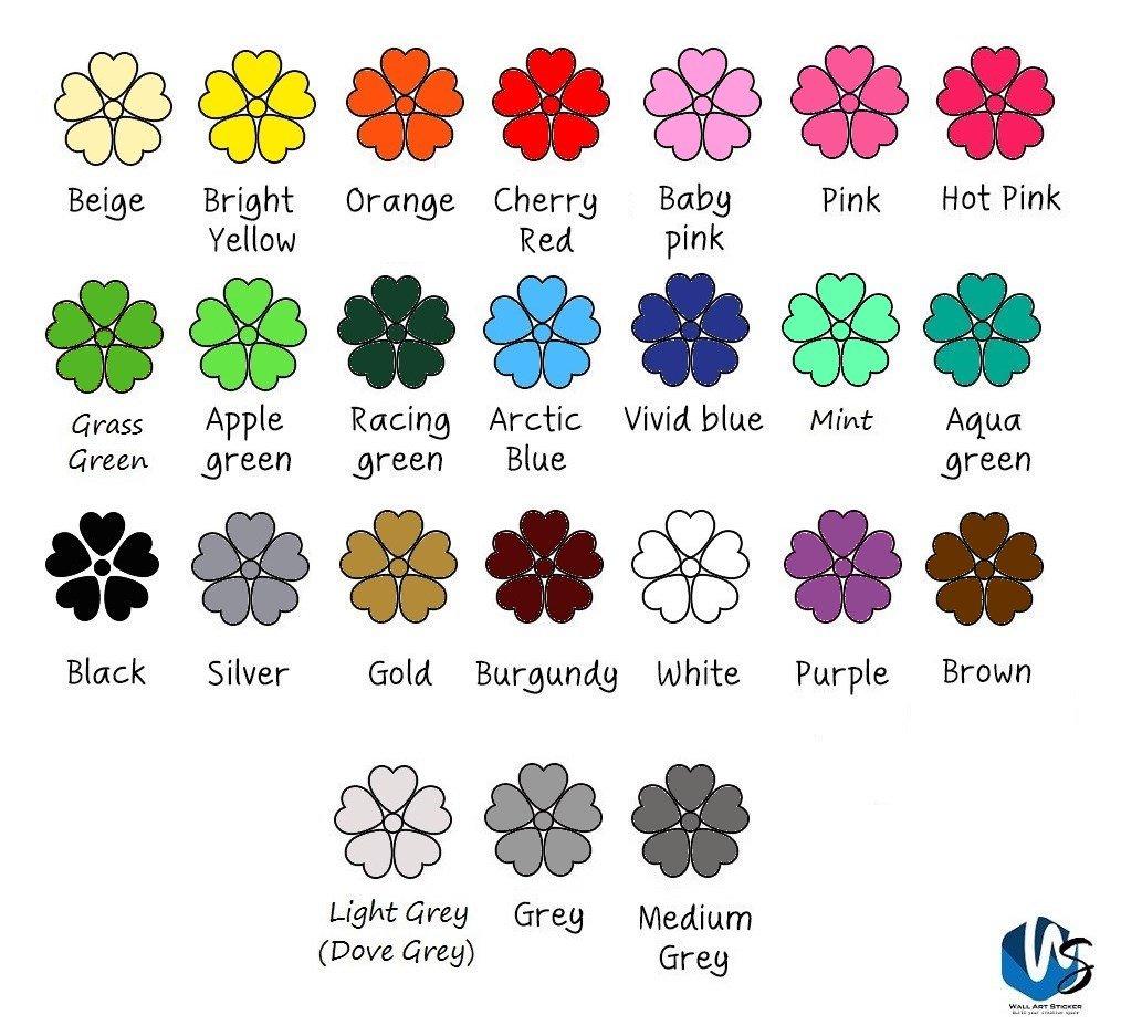 55/mixtes Taille /étoiles Stickers muraux Autocollant Kid Art Chambre denfant D/écoration chambre /à coucher en vinyle rose