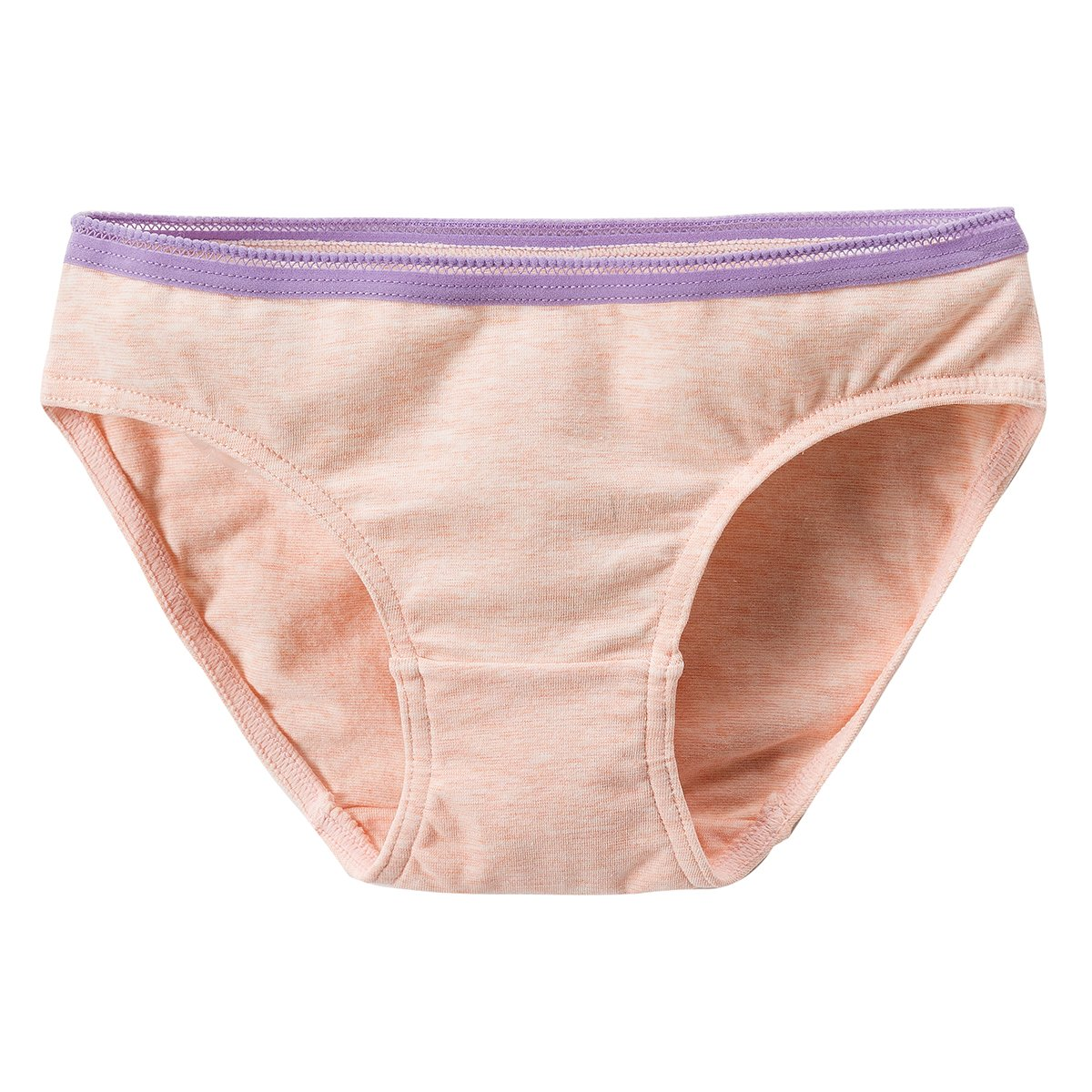 MAMABIBI Kids Solid Hipster Big Girls Colorful Texture Cotton Underwear 5 of Pack Colorful Textures-pink/Orange/Sky-blue L 10-12YRS by MAMABIBI (Image #2)