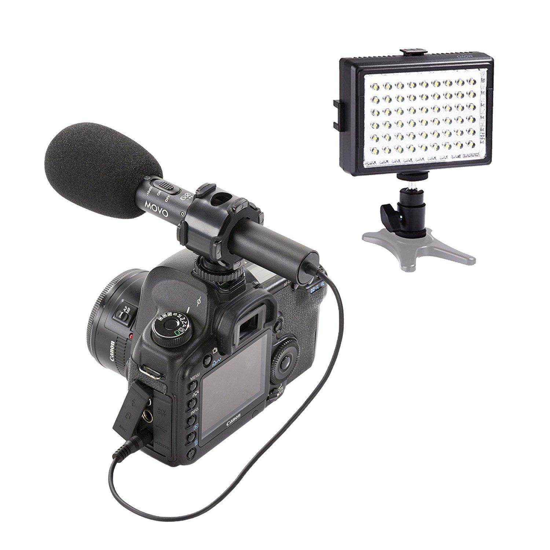 Movo Kit de eléctrica de Video con micrófono de Condensador ...