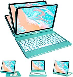 iPad Pro 11 Case with Keyboard 2020/2018, Keyboard Case for iPad Pro 11 2nd Generation, 10 Color Backlight- 360 Rotable- 10 Color Backlight- Blutooth 5.0- iPad Pro 11 Keyboard Case Auto Sleep Wake