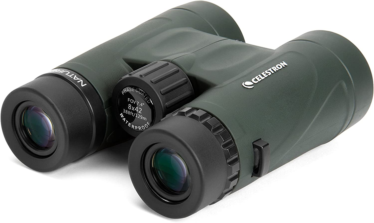 Celestron – Nature DX 8×42 Binocular – Top Rated Birding Binoculars – Fully Multi-Coated Optics with Phase Coated BaK-4 Prisms – Waterproof, Fogproof, and Rubber Armored – 6.5 Close Focus