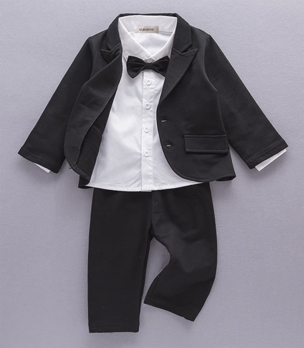 714199810 Amazon.com  StylesILove Baby Boy Tuxedo Formal Wear Suit 3-PC Shirt ...