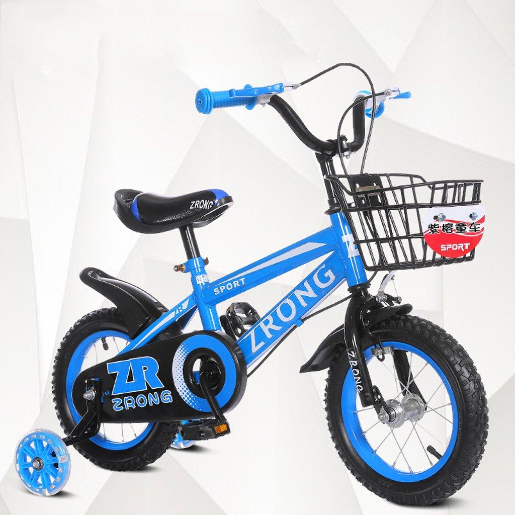 子供用自転車6-9歳の子供用自転車18インチの自転車ハイカーボンスチールの赤ちゃんキャリッジ、赤/青/緑 (Color : Blue) B07CXQXPFF