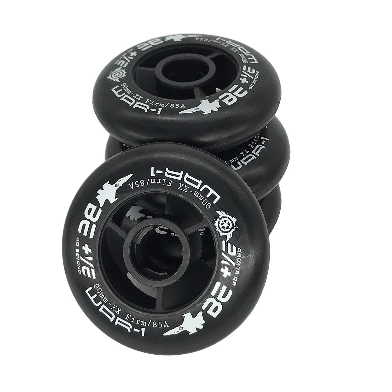 Size 110mm and 100mm and 90mm for Choose JieKeHaiDao 85A SHR PU Inline Speed Skates Replacement Wheels Without Bearings Pack of 4