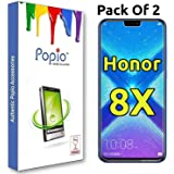 Huawei Honor 8X Tempered Glass (Pack of 2) by Popio®