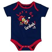 Majestic Athletic St. Louis Cardinals Let's Go Cardinals Infant One Piece Size 24 Months Bodysuit Creeper Navy