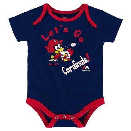 MLB Infants St Navy Louis Cardinals Peanuts Love Baseball Creeper