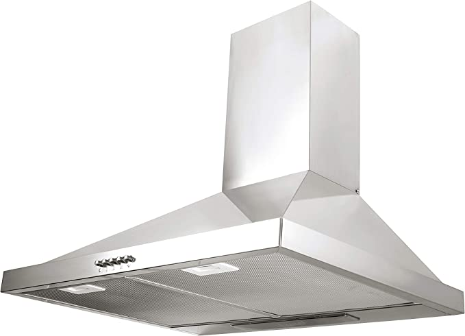 Universal Blue - ZANIAH Campana piramidal inox de 90 cm: Amazon.es: Grandes electrodomésticos