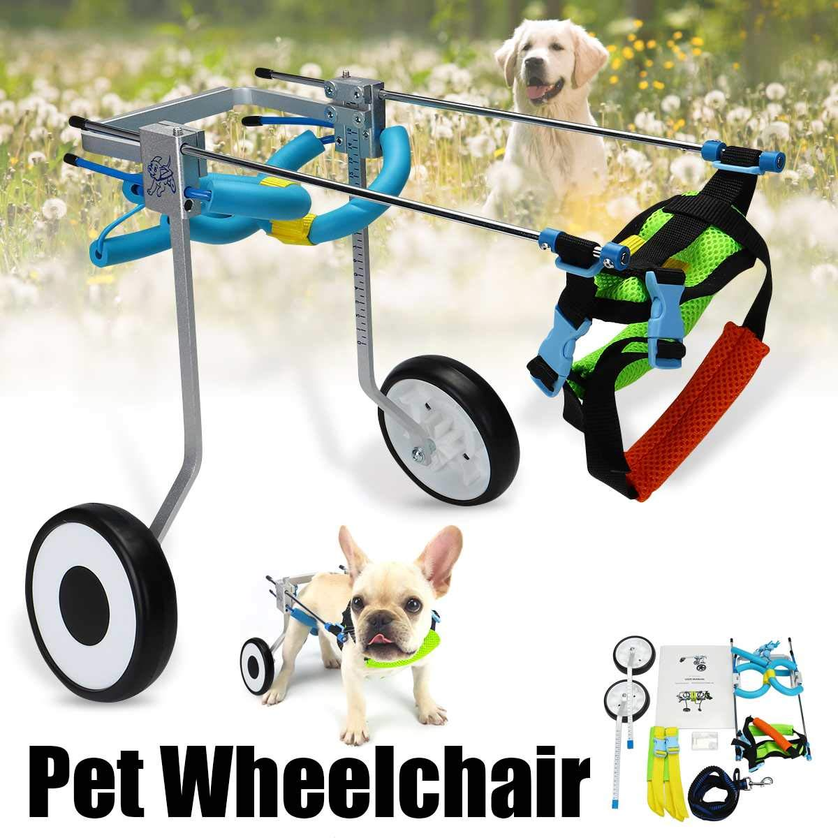 Amazon com : Pet Dog Cat Wheelchair Aluminum Alloy Walking