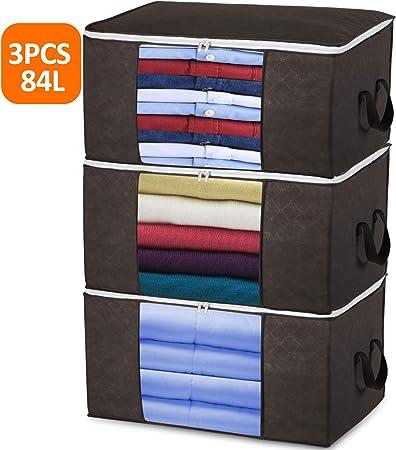84L Aufbewahrungstasche Faltbare Kleideraufbewahrung für Bettdecken Kleidung