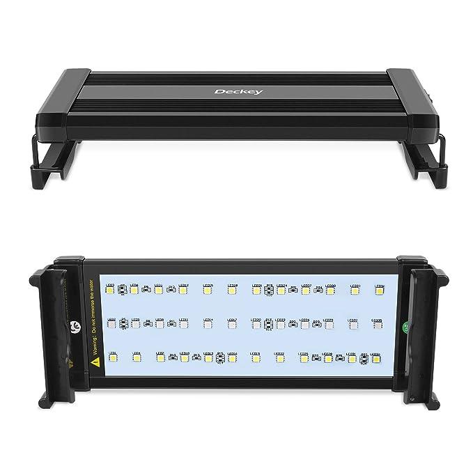2 opinioni per DECKEY Lampada per Acquario, 30 cm Illuminazione Acquario LED, 24Bianco +
