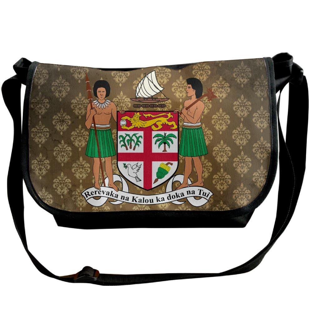 Lov6eoorheeb Unisex Coat Of Arms Of Fiji Wide Diagonal Shoulder Bag Adjustable Shoulder Tote Bag Single Shoulder Backpack For Work,School,Daily