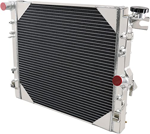 ALLOYWORKS 3 Row Core All Aluminum Radiator For 2007-2017 Jeep Wrangler JK 3.6L 3.8L V6 Offroad