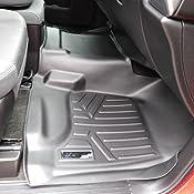 SMARTLINER Floor Mats 2 Row Liner Set Black for Double Cab 2014-2018 Silverado//Sierra 1500-2015-2019 2500//3500 HD MAXLINER A0226//B0148