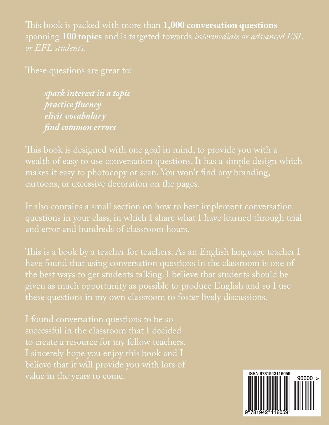 1,000 Conversation Questions: Designed for Use in the ESL or EFL Classroom:  Amazon.ca: Larry W Pitts: Books