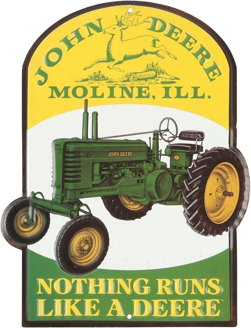 Open Road Brands John Deere Nothing Runs Like A Deere Metal Sign…