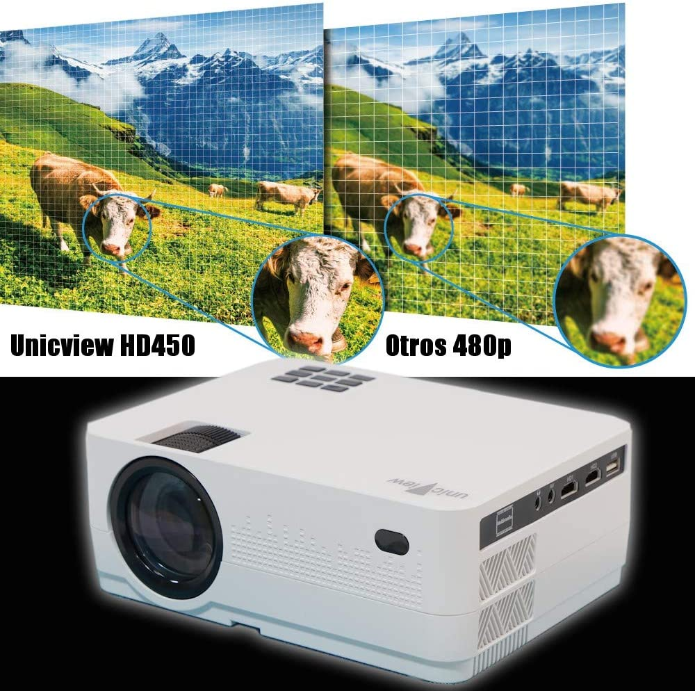 Proyector HD Nativo Unicview HD450 Android Bluetooth 4.800 lúmenes ...