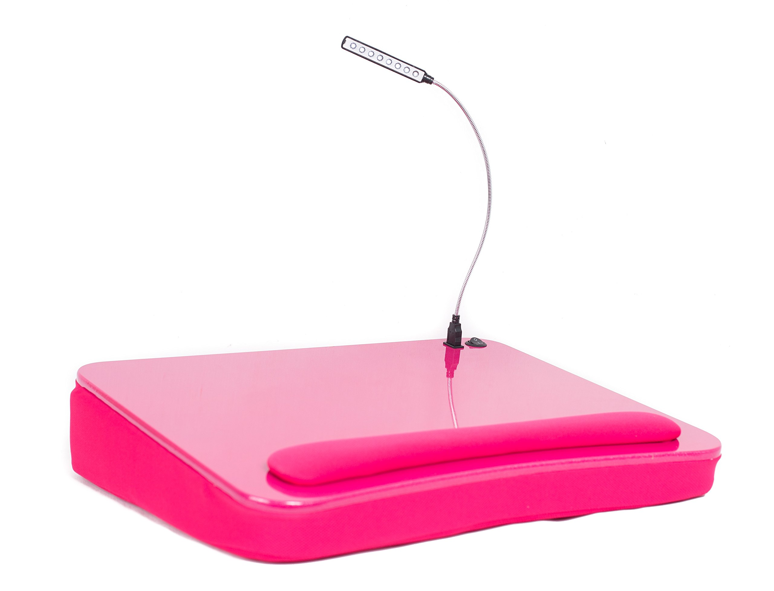 Sofia + Sam Lap Desk with USB Light (Pink)   Memory Foam Cushion   Supports Laptops Up To 17 Inches by Sofia + Sam (Image #2)